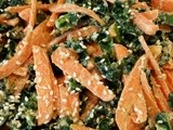 Kale and Carrot Salad with Spicy Peanut Dressing