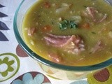 Mom's Split Pea Soup with Ham