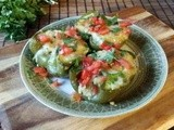 Pablano Polenta Stuffed Peppers