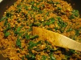 Quick and Dirty Spinach Lentil Curry