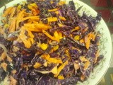 Roasted Corn and Red Cabbage Slaw