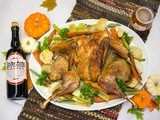 Spatchcocked Turkey with Cloves and Orange