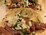 Steak Tacos with Radish Relish