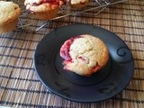 Thyme-spiked Strawberry Rhubarb Muffins