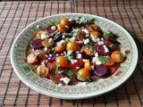 Tomato Beet Salad with Balsamic Dressing