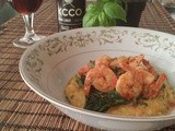 Voodoo Shrimp with Spicy Polenta and Greens