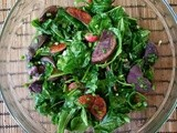 Warm Purple Potato Salad with Arugula and Radishes
