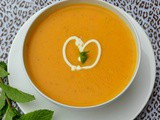 Butternut Squash, Red Pepper & Mint Soup