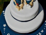Joint 40th Birthday Cake with Teddy Cake Topper #BakeoftheWeek