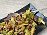 Leftover Broccoli, Chestnut & Mushroom Bake