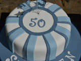 Men's Blue 50th Birthday Cake #BakeoftheWeek
