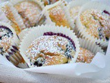 Reduced Sugar Blueberry Muffins #BakeoftheWeek