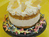 White Chocolate and Lemon Cheesecake Layer Cake – #evenbetterbaking with Dr. Oetker