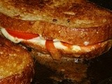 Homemade Mozzarella Grilled Cheese and Bacon Sandwiches