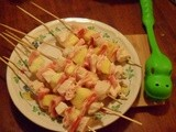 Kebab-ylon 5 (Chicken, Bacon, and Pineapple Kabobs)