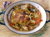 Simple Roasted Chicken in the Dutch Oven