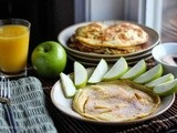German Apple Crepe Pancakes