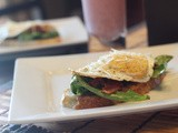 Gourmet Open Face Fried Egg Sandwich