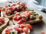 Simple Grilled Tomato Bruschetta