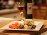 {Skinny} Chicken Marsala with Honey Glazed Carrots and Creamy Mashed Potatoes