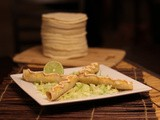 Turkey Taquitos with Creamy Chipotle Lime Sauce