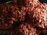 Boozy Chocolate Haystack Cookies