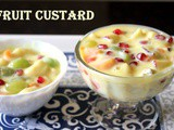 Fruit custard recipe – How to make fruit custard recipe – Fruit salad with custard recipe