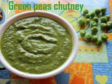Green peas chutney recipe – How to make green peas chutney recipe – green peas recipes