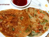 Instant bread uttapam/uthapam recipe – breakfast recipe
