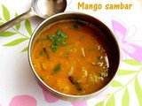 Mango sambar recipe – How to make raw mango sambar recipe – sambar recipes