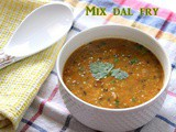Mixed dal fry recipe – How to make mix dal fry or panchmel dal recipe – Panchratna dal recipe