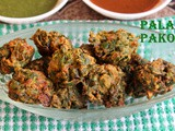Palak pakora recipe – How to make palak pakora/pakoda recipe – spinach fritters recipe