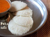 Poha idli recipe – how to make soft poha idli recipe – healthy breakfast recipes