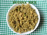 Pudina rice – How to make pudina rice or mint flavoured rice or mint pulao recipe – Indian rice recipes
