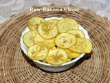 Raw banana (plantain) chips recipe