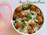 Soya Chunks Pulao recipe – How to make Soya chunks rice recipe – rice recipes