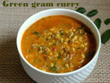 Sprouted green gram curry (sprouted moong dal) recipe – How to make green gram dal recipe – dal recipes