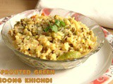 Sprouted green moong khichdi recipe – How to make sprout green moong khichdi recipe – healthy recipes