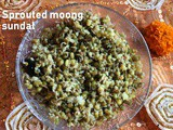 Sprouted green moong sundal recipe – How to make sprouted green moong sundal recipe – sundal recipes