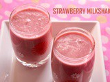 Strawberry milkshake recipe – How to make strawberry milkshake recipe
