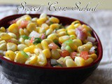 Sweet corn salad recipe – How to make corn salad recipe – salad recipes