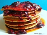 Blueberry Pancakes with Blackberry Sauce