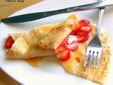 Strawberry Crepes with Cottage Cheese