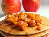 Whole Wheat Pancakes with Apple Sauce