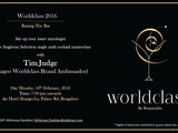 World Class Cocktail Masterclass 2016 with Tim Judge