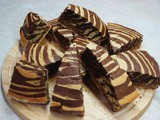 Chocolate striped cake