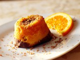 Mini cakes with orange syrup and chocolate (Mini Chocolate Portokalopites)