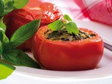 Spinach rice stuffed tomatoes
