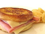 Grilled Ham & Cheese English Muffin Sandwich