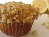 White Chocolate Lemon Streusel Muffins